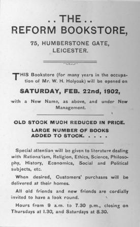 Reform Bookstore advert 1902