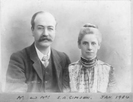 Mr and Mrs S. A. Gimson, image from LSS archive