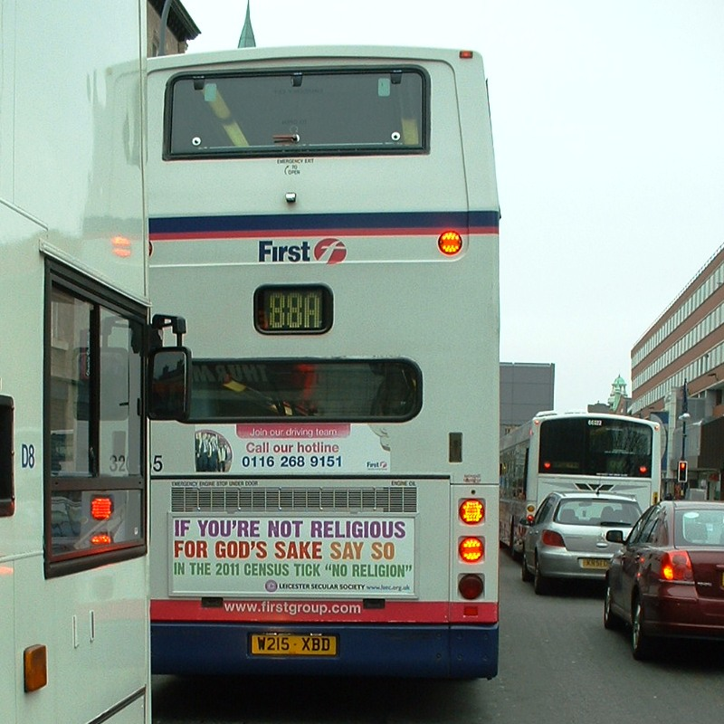 Census Campaign ad on a Leicester bus: Photo Mike Burden