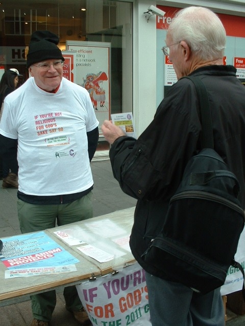 Census Campaign stall in Leicester